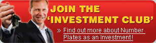 Join the investment club - Find out more about number plates as an investment